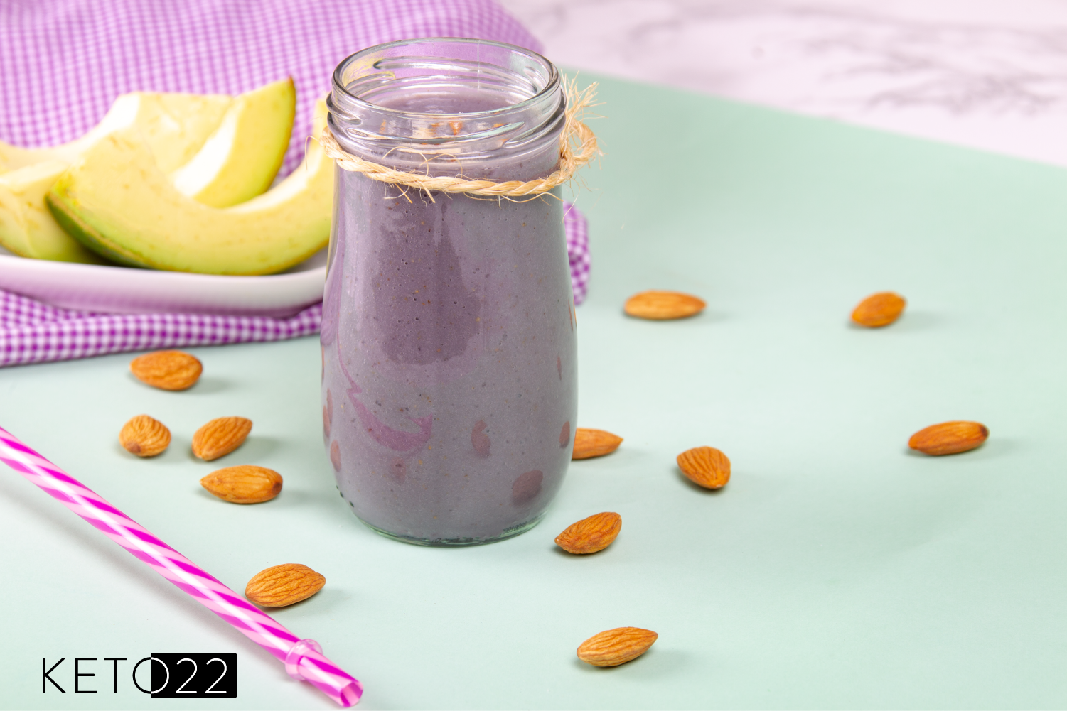 Almond butter blueberry smoothie