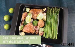 chicken and veggie keto tray