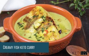Creamy fish keto curry