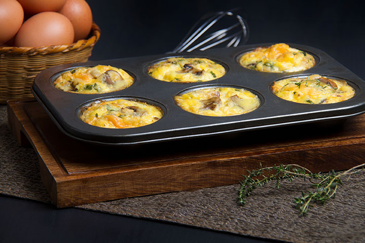 Bacon,Egg,Mushroom and Cheese Muffins