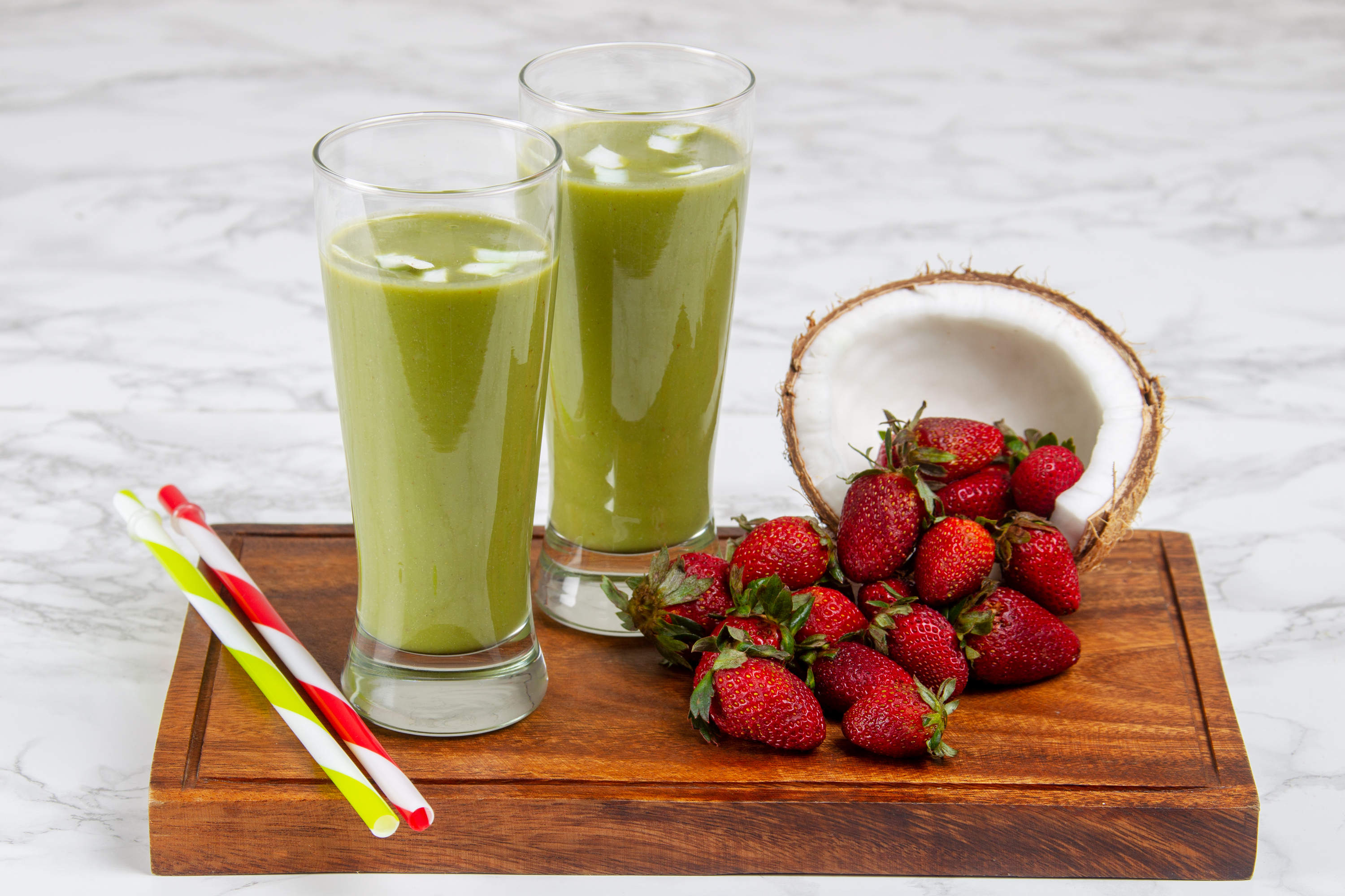 Coconut spinach smoothie